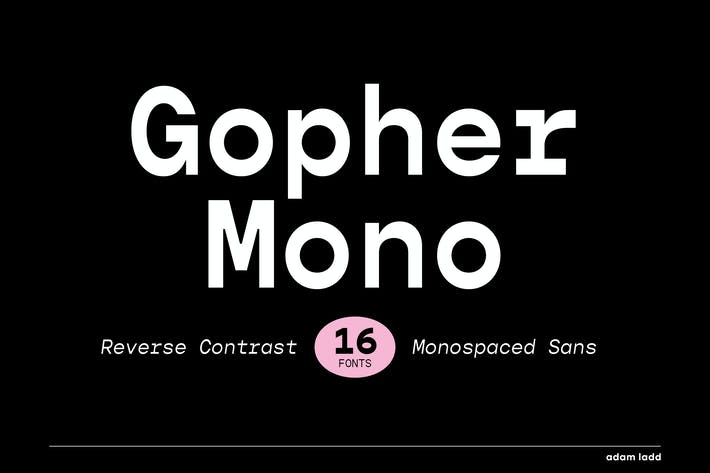 Thumbnail for Gopher Mono Font Family