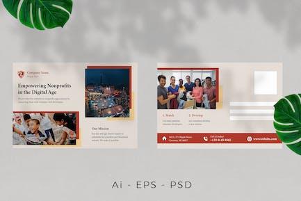 Young Movement / Activits Postcard Design