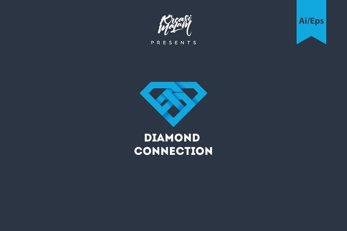 Cover Image For Diamond Connection Logo Template
