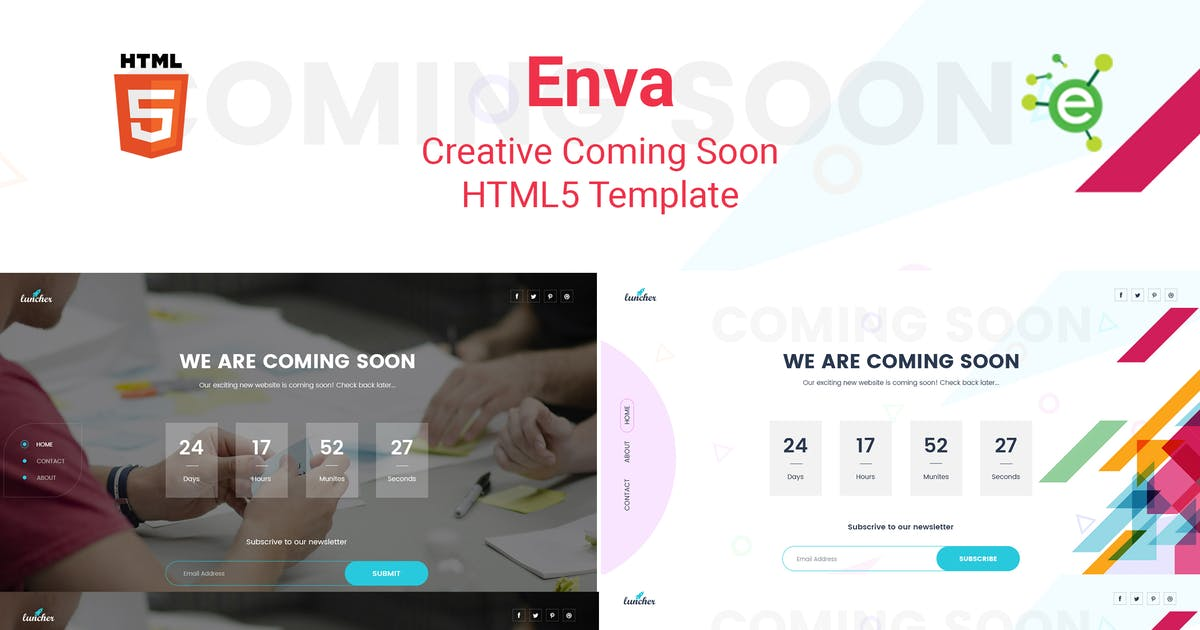 Download Enva - Creative Coming Soon Template by envalab