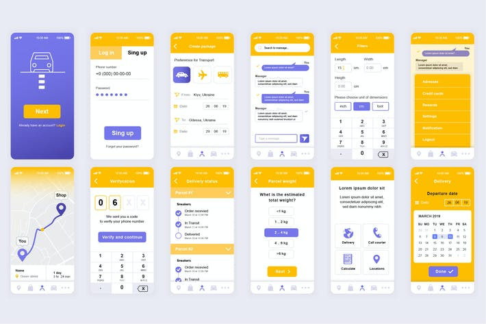 Thumbnail for Delivery Mobile App UI Kit