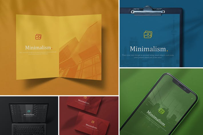 Thumbnail for Minimalistic Branding Mockups