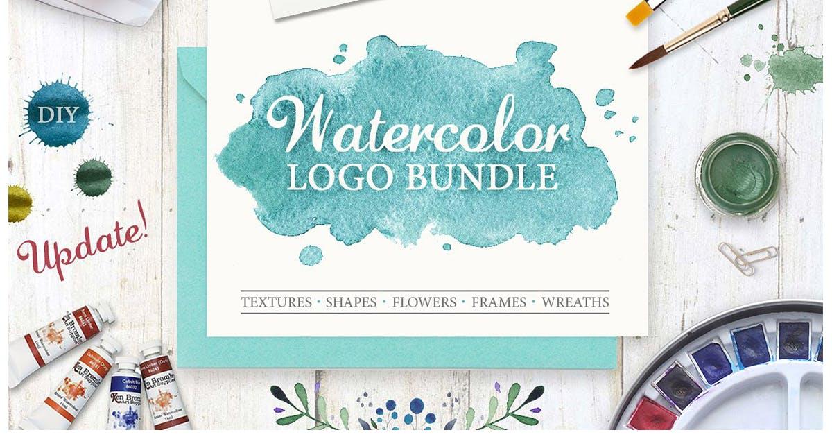 Download Watercolor Logo Bundle. DIY by switzergirl