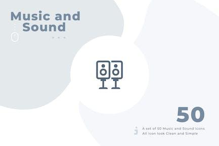 50 Musik- und Sound-Symbol-Set - Material