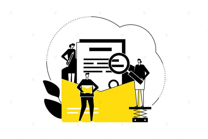Thumbnail for Email marketing - flat design style illustration
