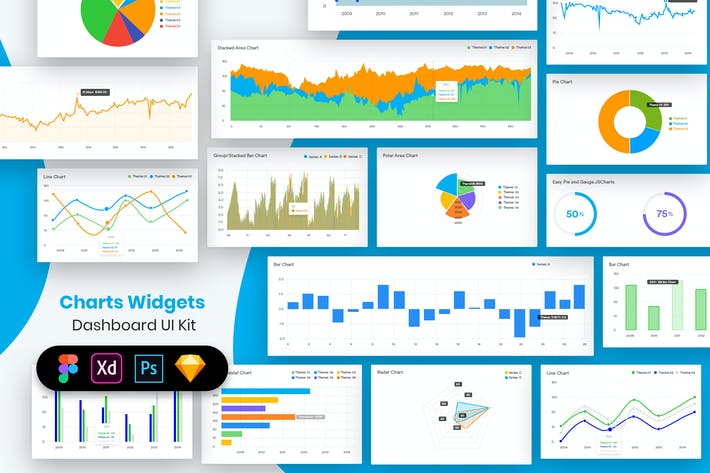 Cover Image For Charts Widgets Dashboard UI Kit