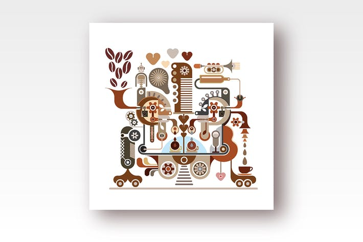 Thumbnail for Fantastic Coffee Machine vector illustration