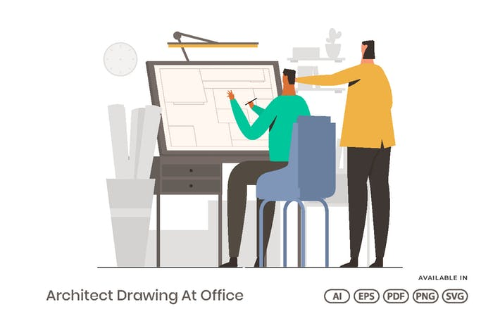 Thumbnail for Architect Drawing At Office