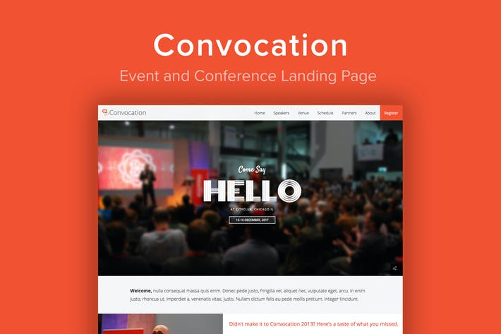 Cover Image For Convocation - Event and Conference Landing Page