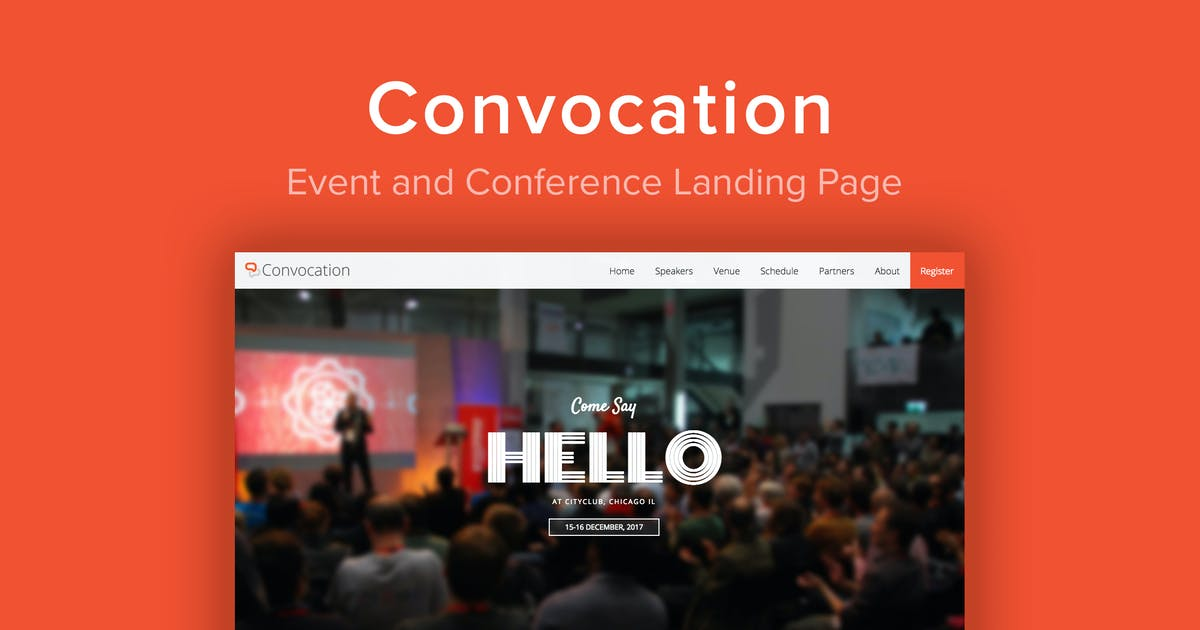 Download Convocation - Event and Conference Landing Page by imithemes