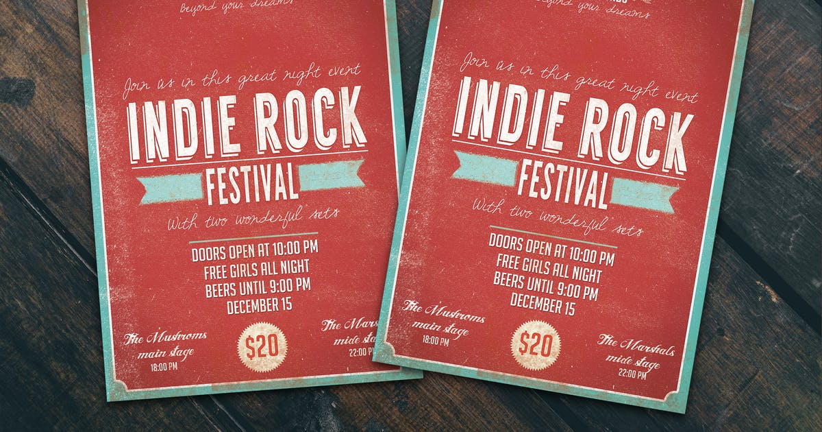Download Indie Fest Flyer Poster by Unknow