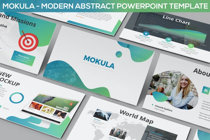 Thumbnail for Mokula - Modern Abstract Powerpoint Template