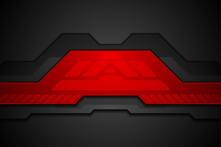 Thumbnail for Red and black abstract technology background