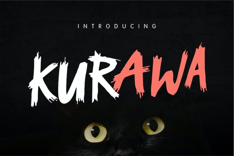 Kurawa - Brush Font