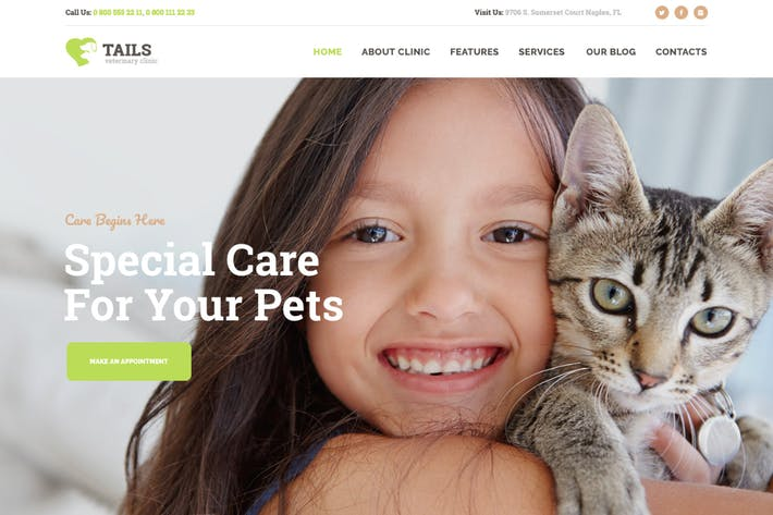 Thumbnail for Tails | Veterinary Clinic, Pet Care & Animal WP