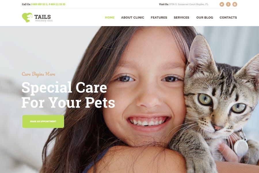 Tails   Clínica Veterinaria, Pet Care & Animal WP