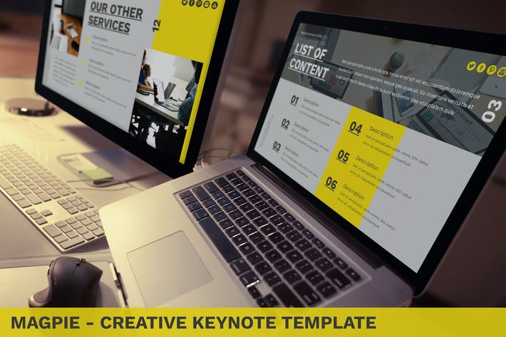 Thumbnail for Magpie - Creative Keynote Template