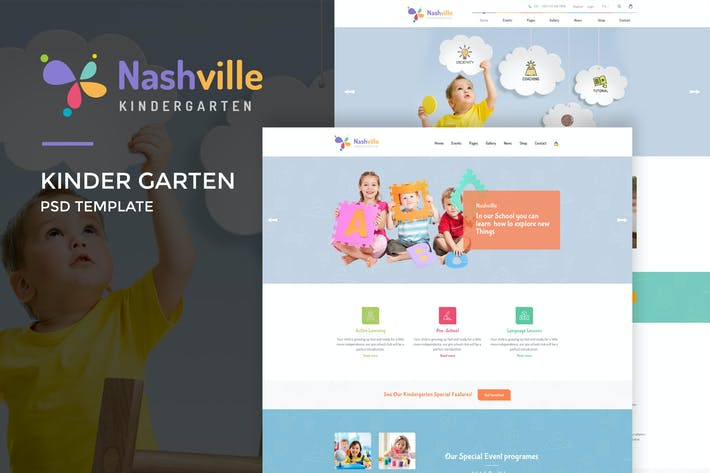 Thumbnail for Nashville : Kindergarten PSD Template