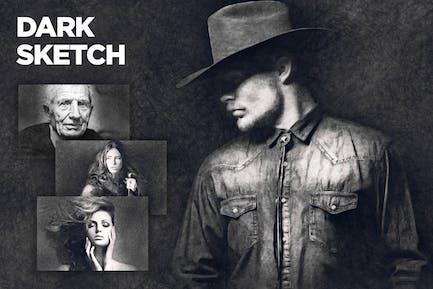 Dark Sketch CS4+ Photoshop Action