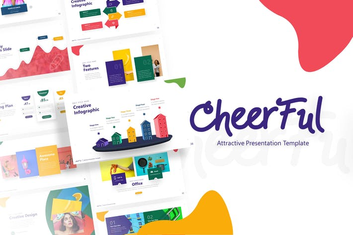 Thumbnail for Cheerful - Attractive Powerpoint Template
