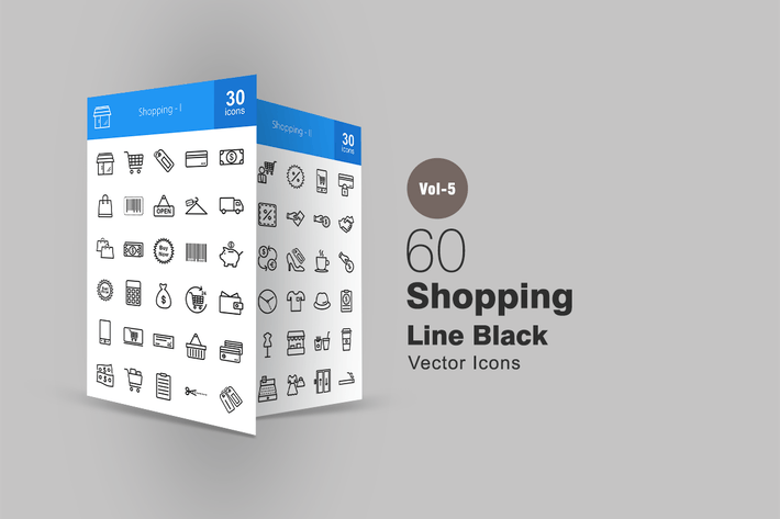 Thumbnail for 60 Shopping Line Icons