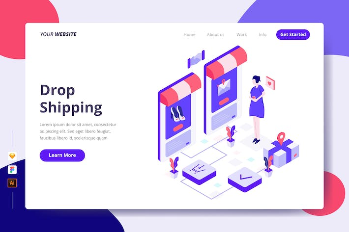 Thumbnail for Drop Shipping - Landing Page