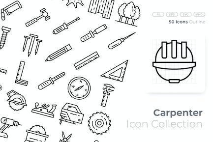 Carpenter Outline Icon