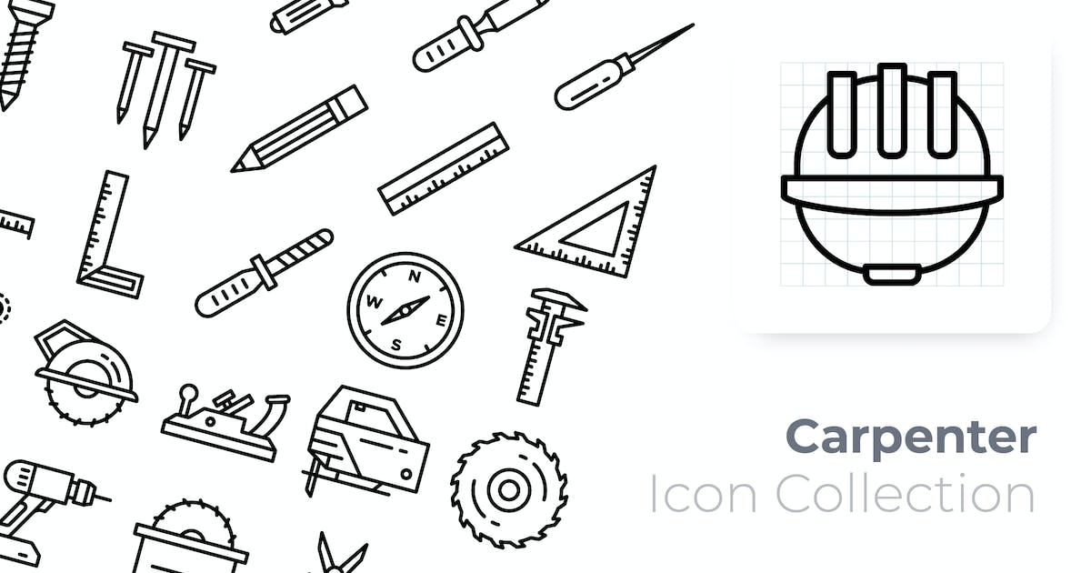 Download Carpenter Outline Icon by GoodWare_Std