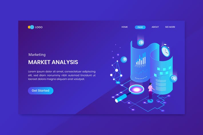 Thumbnail for Data Analysis Isometric Concept Landing Page