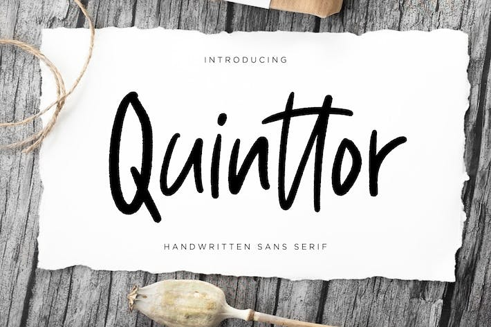 Thumbnail for Quinttor Sans Serif