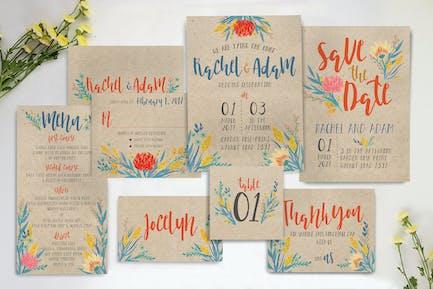 Summer Floral Wedding Invitation