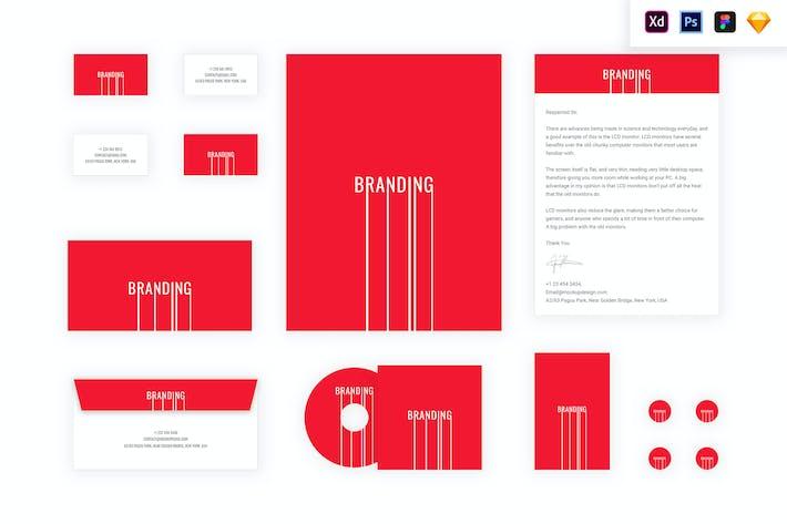 Thumbnail for Markenidentität Mock Up - Branding Lines