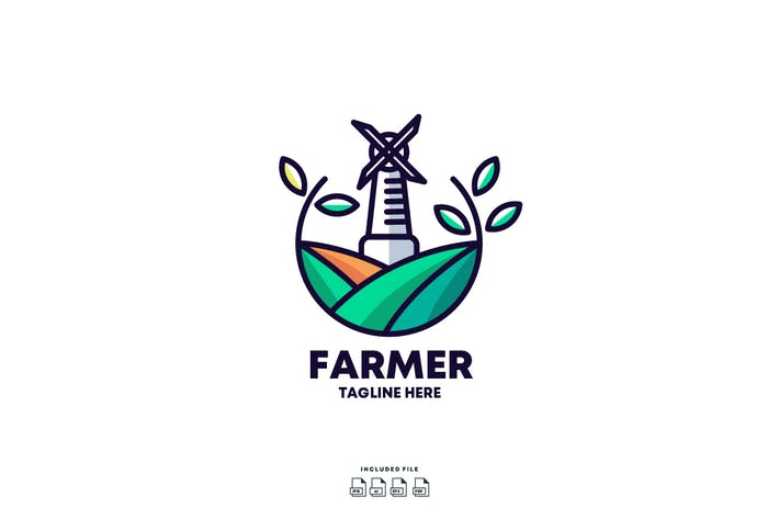 Thumbnail for Farmer Logo Design Template