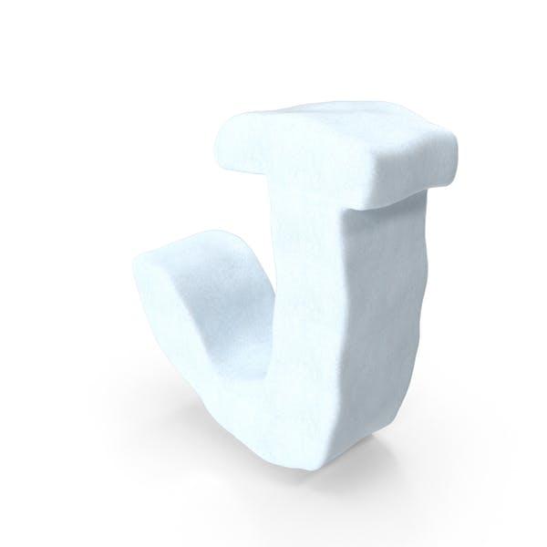 Снежная буква J
