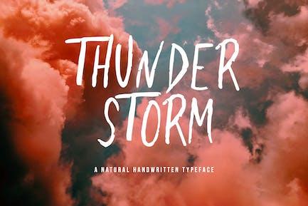 Thunderstorm - Fuente de pincel escrito a mano