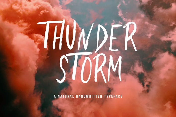 Thumbnail for Thunderstorm - Handwritten Brush Font