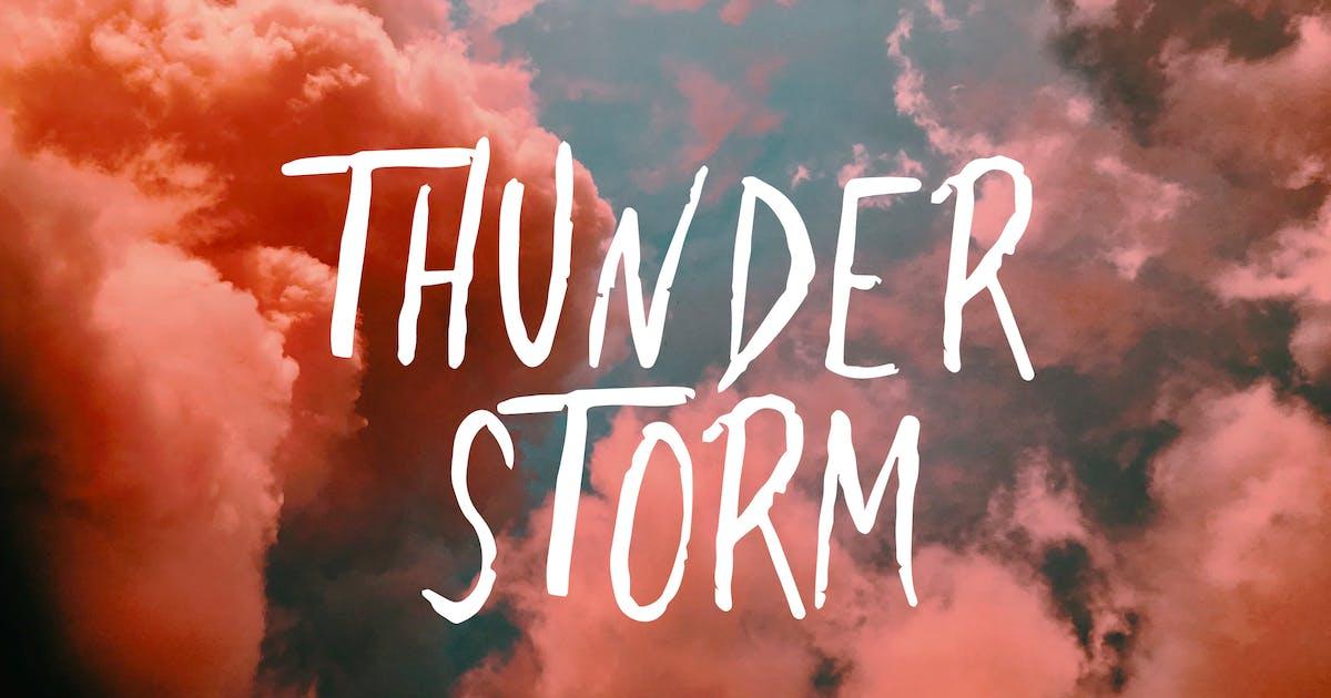 Download Thunderstorm - Handwritten Brush Font by Slidehack