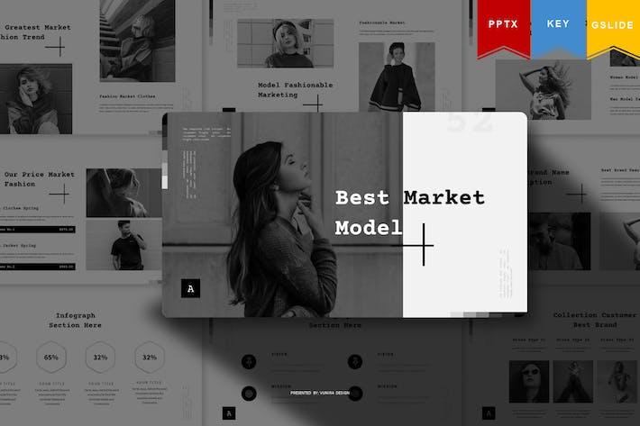 Thumbnail for Лучшая модель рынка | Шаблон презентации
