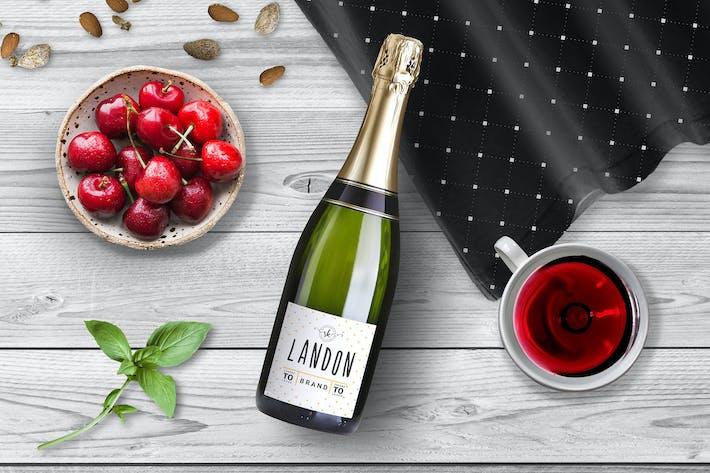 Thumbnail for Wine Bottle Mockup