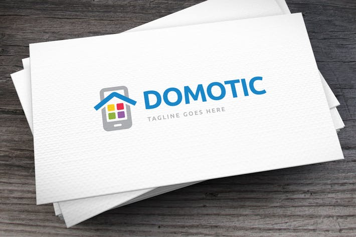 Thumbnail for Domotic Apps Logo Template