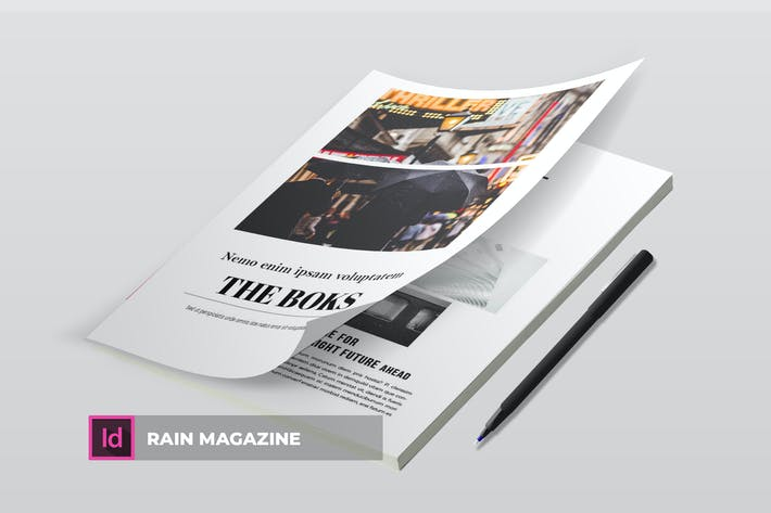 Thumbnail for Rain | Magazine Template