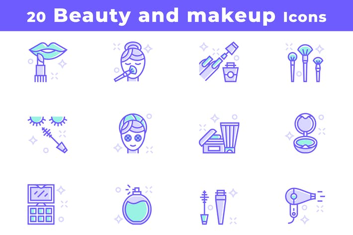 20 Beauty and Makeup Icons