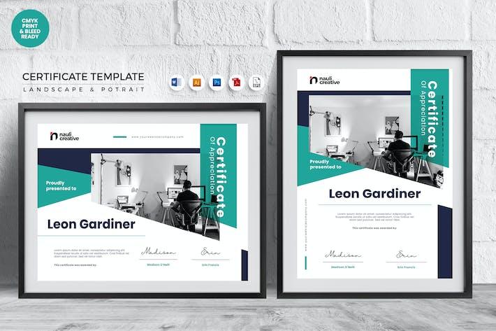 Thumbnail for Professional Certificate Template Vol.19