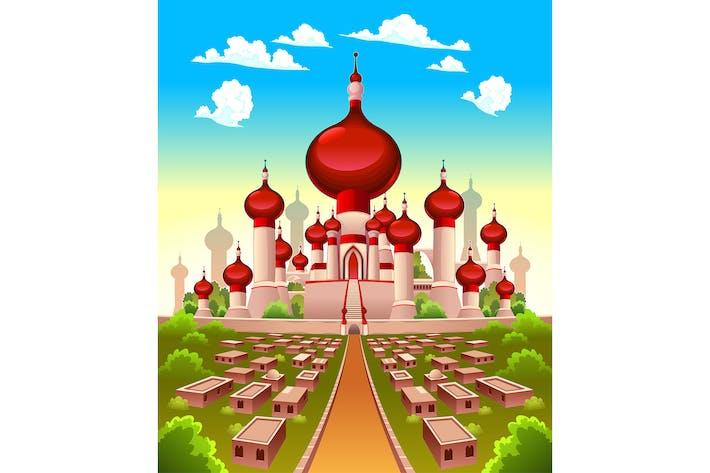 Thumbnail for Landscape with Arabian castle