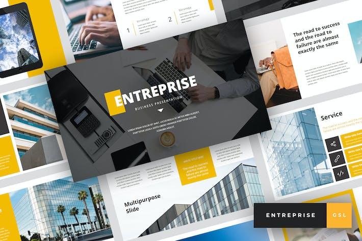 Thumbnail for Entreprise - Business Google Slides Template