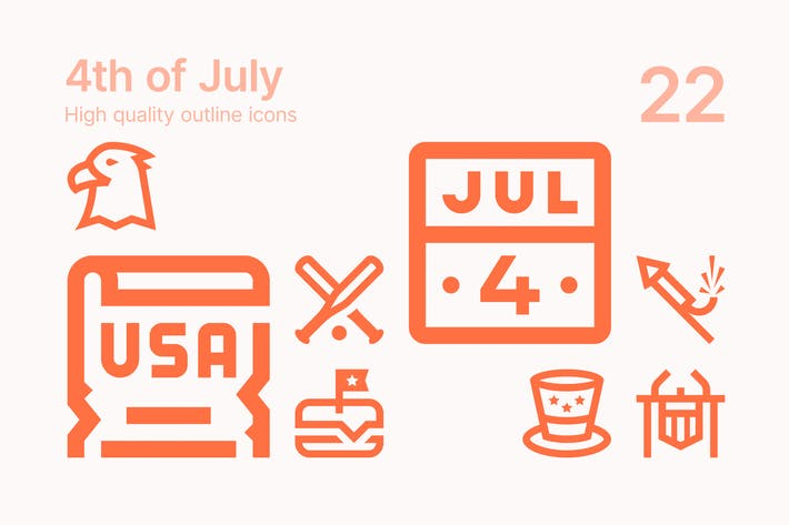 4th of July Icons