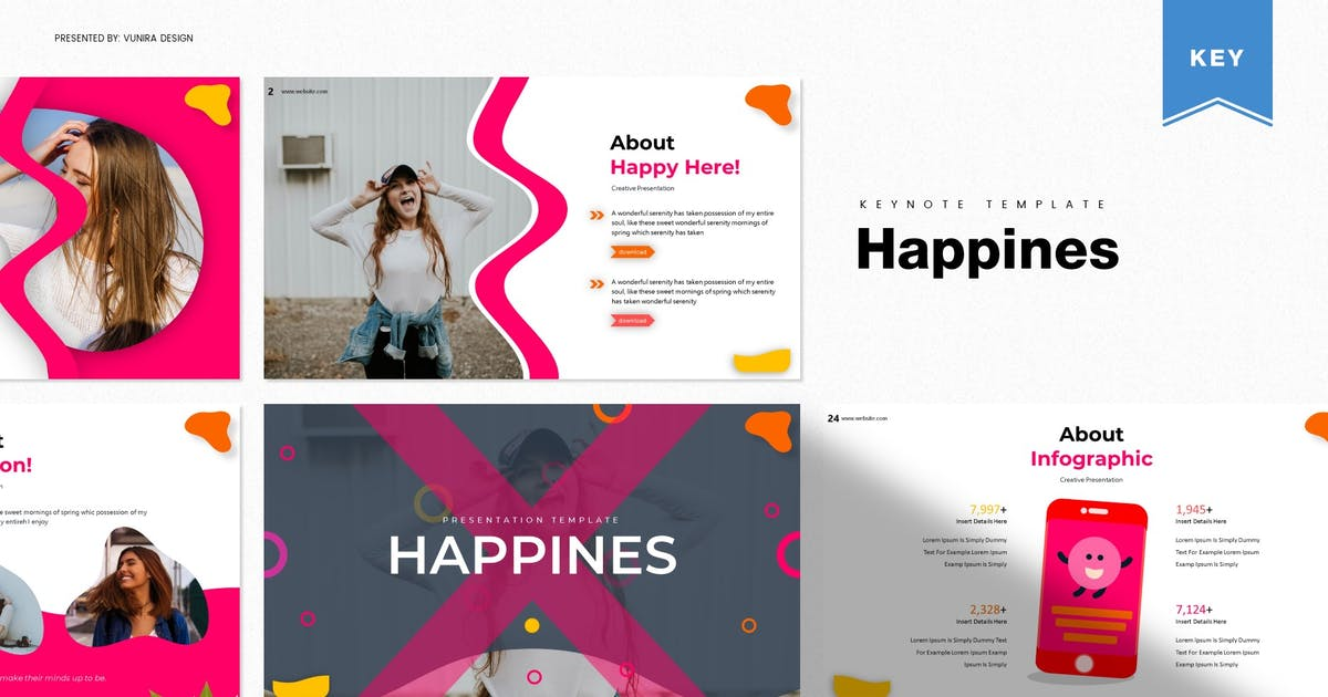 Download Happines | Keynote Template by Vunira