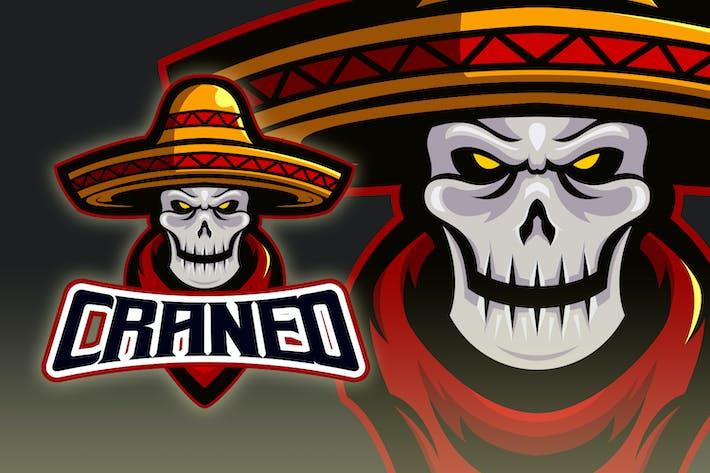 Thumbnail for Mexican Skull Esport Logo