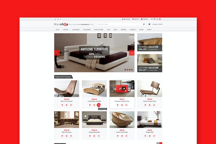 Thumbnail for Maxshop - Премиум электронной коммерции PSD Шаблон
