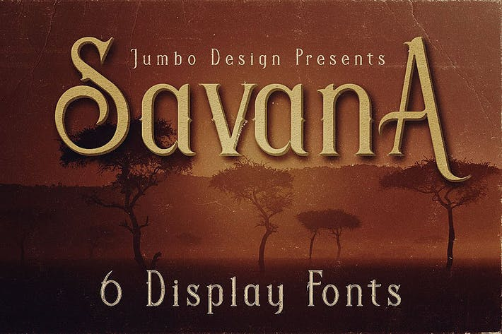 Thumbnail for Savana - Display Font
